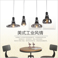 Wholesale Lustre Lamp - 2016 new Chandelier Lamparas Pendant Llight For Kitchen Industrial Edison Lamps Living Lights Loft Fixtures Glass Lustre Industriel Lamp