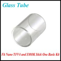 Wholesale Basic Cap - Hot Sale Pyrex Glass Smok Nano TFV4 Atomizer Tank Replacement Clear Glass Tube Bell Caps for SMOK Stick One Basic Kit