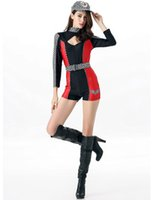 Wholesale Temptation Uniform Racing Girl - 2016 Sexy Helloween costumes for women Racing Girls Cosplay Costume Black White Plaid Dress Car-Racing Girl Queen Uniform 4colors S5565