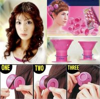 Rolos de cabelo Peco Roll DIY Roll Soft Hair Style Roller Curler Salon Hairs Curler Hair Tools 10pcs / set OOA2609