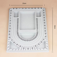 Wholesale Plastic String Beads - New Gray Bead Pear Trays Stringing Jewelry Making Craft Design Organizer Board Tool Creative Beading Tray L