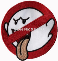 """Wholesale Boo Costume - 3.2"""" No Boo Ghostbusters No Ghost Patch TV Movie Film Series Applique Costume Embroidered iron on Halloween Cosplay Party Favor"""