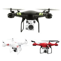 Großhandel-X52 Wireless WiFi 4Axis Lenkmaschine 2.0MP Kamera Set Höhe Quadcopter UAV