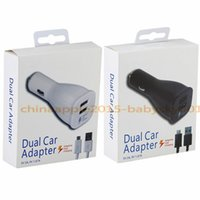Wholesale galaxy s6 charging port for sale - Fast Adaptive Quick charging Dual usb ports Car chargers M Micro usb cable for samsung galaxy s6 s7 edge note with Retail box