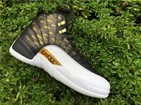 Wholesale Carbon Fiber Wing - 2016 air retro 12 XII 12s wings man Basketball Shoes gold With Real Carbon Fiber air retros Athletics Sports Sneaker Boots with box Sneakers