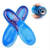 orthopädische schuhgel einlegesohlen großhandel-Silikon-Gel-Einlegesohlen orthopädische Massage-Schuh-Einlagen Schock-Absorption Schuhauflage Unisex-Silikon-Anti-Rutsch-Gel-weiche Sport-Schuh-Einlegesohle-Auflage