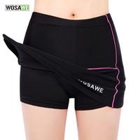 Wholesale Girls Bike Pants - WOSAWE Womens Girls Cycling Bike Bicycle Mini Skirt Pleated Skirt Shorts Pants Black