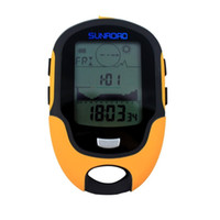 Wholesale Digital Altimeter Compass Thermometer Barometer - Wholesale-Multi Function Digital Altimeter Barometer Compass Time Date Hygrometer Thermometer Weather Forecast Waterproof LCD Altimeter