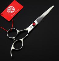 4.5 haarschere großhandel-533 # 4,5 '' / 5 '' / 5,5 '' / 6 '' Marke Lila Dragon Professional Friseur Schere Hinzufügen Tasche 440C Friseur Schere Haarscheren