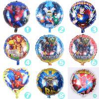 Wholesale Spiderman Birthday - 18 inch Cartoon Spiderman Iron Man Batman Superman Balloon for Wedding Birthday Party Supplies Decoration Halloween Foil Balloons