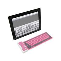 teclados de china al por mayor-Mini Teclado Inalámbrico Bluetooth Flexible Plegable Impermeable Teclado Extensible Cable USB Universal Para Universal Smart Phones WP002