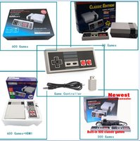 Wholesale Wholesale Game Controllers - Gift Classic Game TV Video Handheld Game Console Entertainment System Built-in 30 600 500 620 Classic Games for NES mini Game