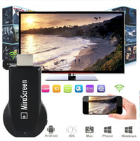 Wholesale High Wi - MiraScreen OTA TV Stick Dongle Better Than EasyCast Wi-Fi Display Receiver DLNA Airplay Miracast Airmirroring Chromecast FREE DHL When 20pcs