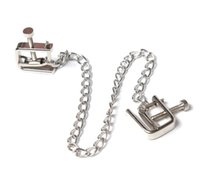 Wholesale Stainless Steel Sex Toys Female - Adult sex supplies dairy chain stainless steel chain alternative toys Hot Sex Fantasy Bondage Unisex Nipple Press Clamps Tits Torture Toys