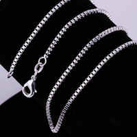 """Wholesale Silver Jewelry Box China - Wholesale 10pcs 1.4MM 925 Sterling Silver Necklace Box Link Chains Jewelry 16"""" 18"""" 20"""" 22"""" 24"""" 26"""" 28"""" 30"""" (8 sizes Choose)"""