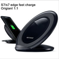 Wholesale Dock Station Wireless - For S7 QI wireless fast charger Pad Mini charging stand docking annulus circle station Portable adapter for Samsung S6 S6 Edge s7 s7 edge