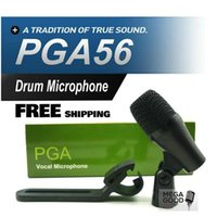 Wholesale professional drum kits for sale - Group buy Sale FreeShipping PGA56 Professional Tom Snare Drum Kit Instrument Dynamic Microphone PGA Sound System For Stage Show Studio New Boxed