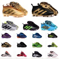 Wholesale Cream Colour Boots - Originals 18 Colour ACE 16+ PureControl FG Slip On Men's Soccer Shoes Boots Men Cheap Original Performance Ace 16 Cleats Football Sneakers