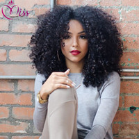 Wholesale 7a kinky curl hair resale online - 7A Glueless Full Lace Human Hair Wigs With Baby Hair Lace Front Wigs For Black Women Kinky Curl Natural Cheap Hair Wig