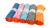 Wholesale Microfiber Sweat Towel - Yogaitoes skidless Yoga mat towel fitness exercise sweat absorption microfiber silicone grain sports pilates soft blanket