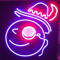 """Wholesale Real Snowman - Window Neon Snowman Face Hat Art Neon Sign Handcrafted Custom Home Decoration Real Glass Tube Display Neon Signs Free Desgin 14""""X17"""""""
