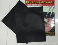 Wholesale Wholesale Dish Mats - PTFE Non-stick BBQ Grill Mat Barbecue Baking Liners Reusable Teflon Cooking Sheets 40 * 30cm Cooking Tool
