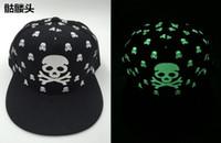 Wholesale Wholesale Flat Bill Hats - Fluorescent hip-hop hat Summer night light fashionable outdoor sun hat Flat along the baseball cap Flat Bill Snapback Baseball HIP-HOP Cap