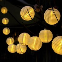 Wholesale Christmas Light Solar Power Chinese - Wholesale- Chinese style solar power 4.8m 20 led plastic lantern string light for chirstmas new year home decoration