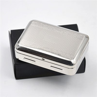 Wholesale King Style Logo - 1 X High Quality Victorian Style Classic Metal Silver Color Double Sided King Cigarette Case Holder we can customize your logo