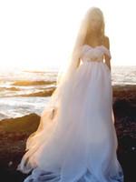 griechische göttin strand brautkleid großhandel-Sommer Stil rückenfreie Brautkleider fließende elegante Boho Brautkleider eine Linie Vintage griechische Göttin Brautkleid