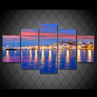 Oil Painting spain poster - 5 Set HD Printed spain eivissa ibiza Painting Canvas Print room decor print poster picture canvas landscape oil painting