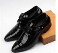 Wholesale Man S Formal Shoes - Men shoes casual brand genuine leather black formal dress double monk s wedding shoes Size: US6-US10