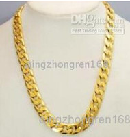 Wholesale Mens Heavy Chain Necklace - FINE THICK HEAVY MENS CHAIN 14K YELLOW GOLD NECKLACE JEWELRY