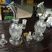"Wholesale Oem Orders - 14.5"" White Beaker Glass Bongs with new design perc Classical Smoking water pipes with Radiantglass logo can do OEM order"