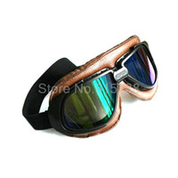 Wholesale Lens Dust Protection - Free shipping UV Wind Dust Protection Tactical Goggle Motorcycle Glasses Yellow lens