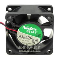 Wholesale hard drive fans - Original NIDEC TA225DC B34467-33 12V 60*60*25 6cm 0.35A 2 wire cooling fan