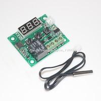 dijital termostat sıcaklık kontrolü toptan satış-Toptan-DC12V Dijital Serin Isı sıcaklığı Termostat Termometre Sıcaklık Kontrolü On / Off Anahtarı-50-110C Sıcaklık Kontrol Anahtarı w1209
