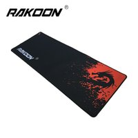 Tienda De Cerraduras Baratos-Zimoon Store Brand Large Gaming Mouse Pad con Lock Edge Red Dragon 30 * 80CM Velocidad / Control Version Mousepad para Dot 2 Lol