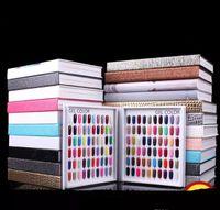 tableaux d'affichage des ongles achat en gros de-Modèle professionnel 216 couleurs Nail Gel Polish couleur affichage carte Livre Dedicated Chart Chart Nail Art Outils avec 226 faux ongles