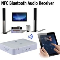 Wholesale Nfc Bluetooth Receiver - NFC Wireless Bluetooth Audio Receiver Music Adapter for Home Stereo Sound System and Speakers Audio Amplifier