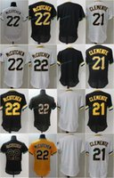 22 Andrew McCutchen Jersey Cheap Mens Blank 21 Roberto Clemente 100% Stitched Embroidery Logos Pittsburgh Baseball Jerseys