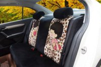 Wholesale Car Seat Cover Leopard - 18pcs new car chair cover cartoon cute women full charter set of four seasons car seat cover Leopard grain