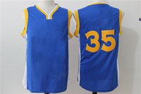 New # 35 # 30 Bleu Basketball Jerseys Hot Sale Basket Shirts Discount Cheap Mens Basketball Porter Jaune Blanc Couleur En Stock