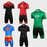 spider man cycling jersey - 2015 Hero Series Cycling Jersey Spider man Captain America Iron Man Bike Clothes Short Sleeve Summer for Men Cycling Clothing Shorts Set