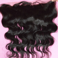 Wholesale Human Lace Front Closure - BIG DAY Lace frontal closure, Malaysian body wave lace front closure, quality 8A virginy human hair with bleached knots frontal malaysian