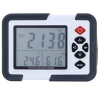Wholesale HT2000 Indoor Digital Temperature Humidity CO2 Carbon Dioxide Data Logger Detector Thermometer Hygrometer for Office Greenhouse