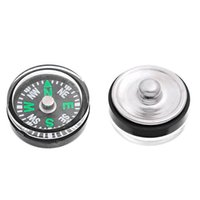 Wholesale Custom Clasps - NOOSA Compass Custom 20mm Personalized aluminum snap button accessories Noosa button DIY Ginger Snap Jewelry fit noosa necklaces rings
