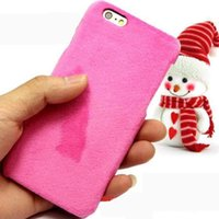 Barato Cellphone Plush-Pano de peluche de inverno Hard Cellphone Caso de pele Warm Back Cover Shell para iPhone 10 X / 8/7 / 6S / 6/5 Plus