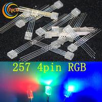 RGB LED 5 \ 8 \ 10 mm diffusa \ acqua chiara TRI-COLOUR 4 PIN COMUNE ANODO CATODO \