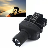 Super Bright Mini LED Lampe de poche Lanterne Frontale Durable Zoomable Head Torch Light Bike Riding Lamp pour Camping Hunting